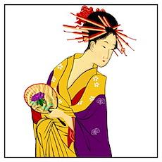 Geisha Girl Wall Art Poster