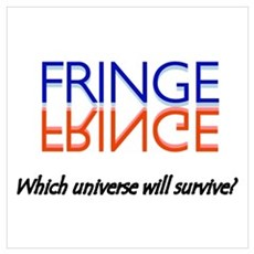 Red/Blue Fringe: Which Universe Wall Art Poster