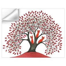 Red Stray Cats Wall Art Wall Decal
