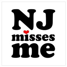 new jersey misses me Wall Art Framed Print