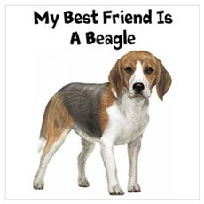 Beagle Wall Art Poster