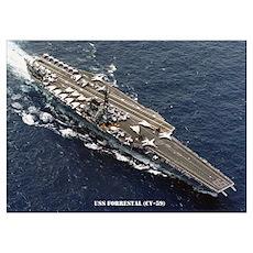 USS FORRESTAL Wall Art Poster