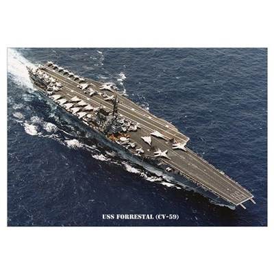 USS FORRESTAL Wall Art Canvas Art