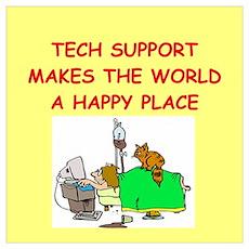 tech support Wall Art Poster