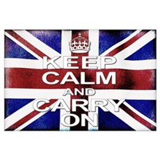 Keep Calm Union Jack Wall Art Poster