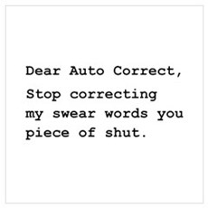 Auto Correct Shut Wall Art Canvas Art