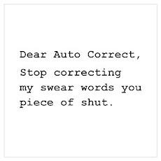 Auto Correct Shut Wall Art Poster