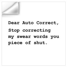 Auto Correct Shut Wall Art Wall Decal