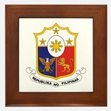 """""""Philippines COA"""" Framed Tile"""