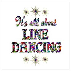 About Line Dancing Wall Art Poster