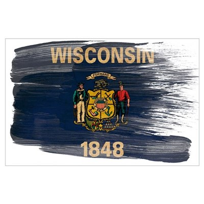 Wisconsin Flag Wall Art Poster