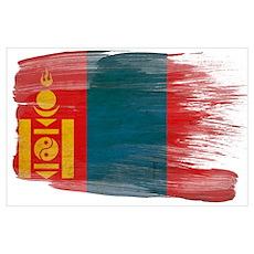 Mongolia Flag Wall Art Poster