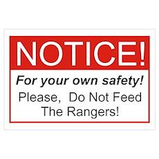 Notice / Rangers Wall Art Poster