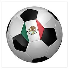 Mexican soccer ball Wall Art Poster