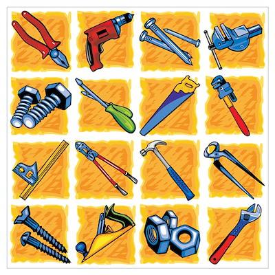 Tools Pattern. Wall Art Poster