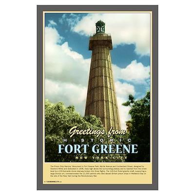 Nostalgic Fort Greene Monument Poster Poster