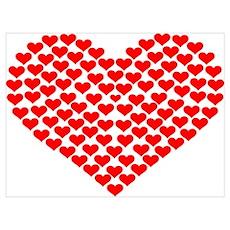 Hearts Wall Art Poster