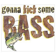 Kick Bass Wall Art Poster
