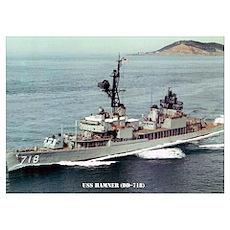 USS HAMNER Wall Art Poster