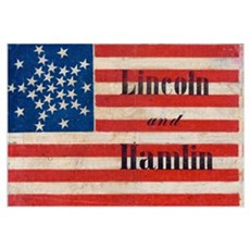 Lincoln and Hamlin Wall Art Canvas Art