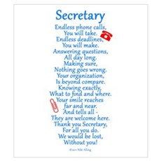 Secretary Thank You Wall Art Poster