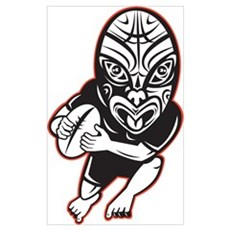 Maori Rugby player Wall Art Poster