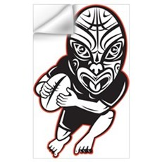 Maori Rugby player Wall Art Wall Decal