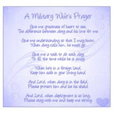 Military Wife's Prayer Wall Art Canvas Art