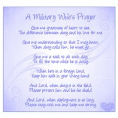 Military Wife's Prayer Wall Art Poster