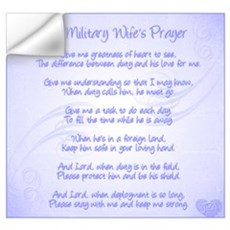 Military Wife's Prayer Wall Art Wall Decal