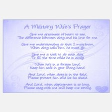 Military Wife's Prayer Wall Art