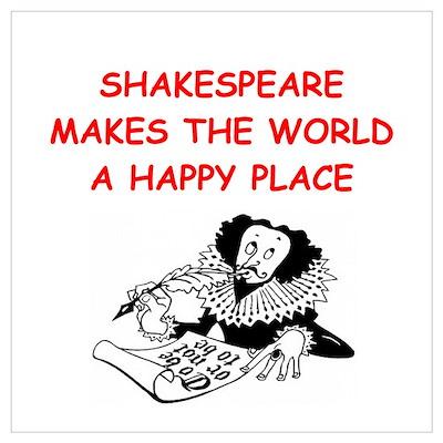 shakespeare Wall Art Poster