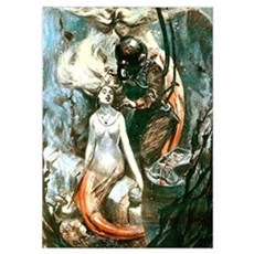 Diver and the Mermaids Wall Art Poster