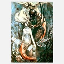 Diver and the Mermaids Wall Art