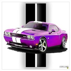 New Dodge Challenger Wall Art Canvas Art
