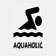 Aquaholic Swimmer Wall Art