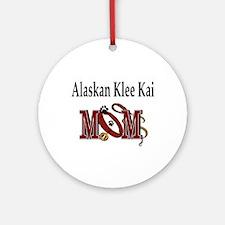 Alaskan Klee Kai Ornament (Round)
