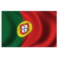 Flag of Portugal Wall Art Poster