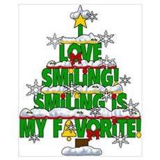 Smiling is my favorite Elf Movie Classic Wall Art Poster