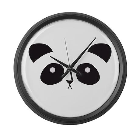Panda Face Large Wall Clock By Debramariedesigns