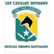 DUI - 1st Cav Div - Special Troops Bn with Text Mi Framed Print
