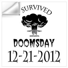 I Survived Doomsday 2012 Blac Wall Art Wall Decal