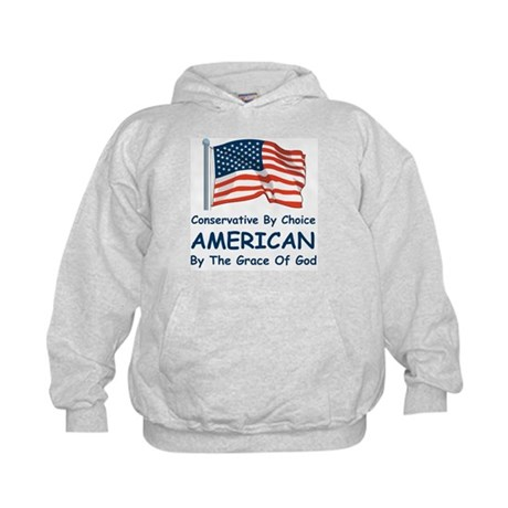 Conservative By Choice Kids Hoodie
