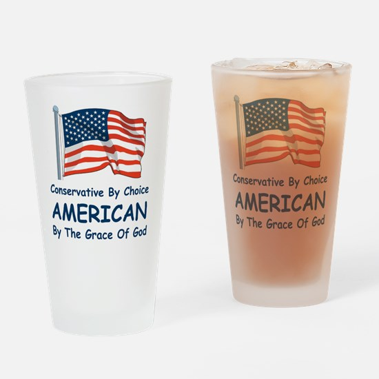 Conservative By Choice Drinking Glass