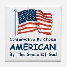 Conservative By Choice Tile Coaster