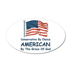 Conservative By Choice 38.5 x 24.5 Oval Wall Peel