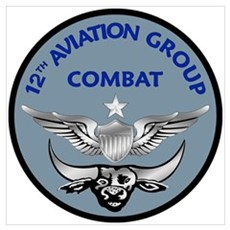 12th Aviation Combat Group Wall Art Poster