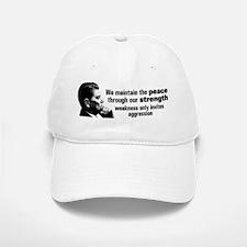 Reagan Quote - Peace through Strength Baseball Baseball Cap