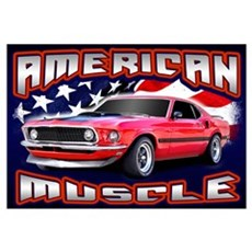 American Muscle - Mustang Wall Art Framed Print