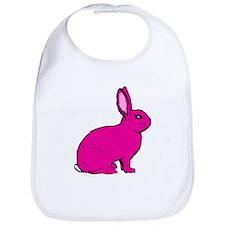 Pink Rabbit Bib